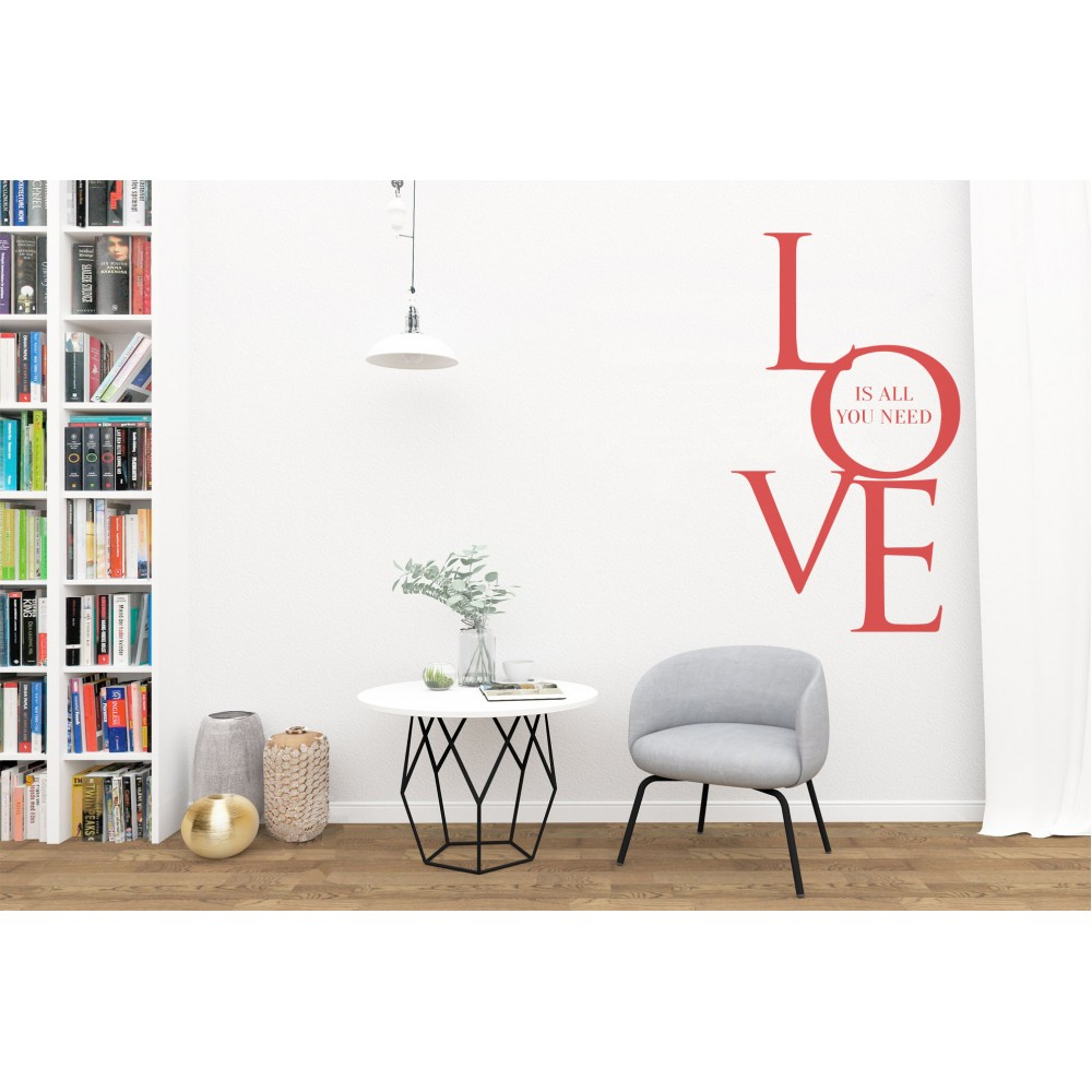 "Sticker citat ""Love"""