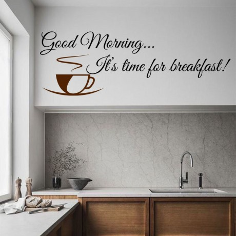 "Sticker citat ""Good Morning"""