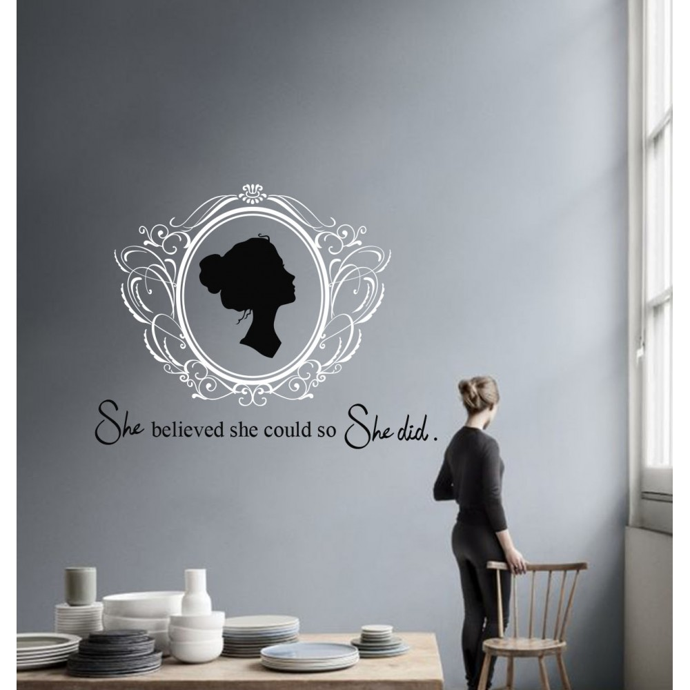 Sticker Citat ''She did''
