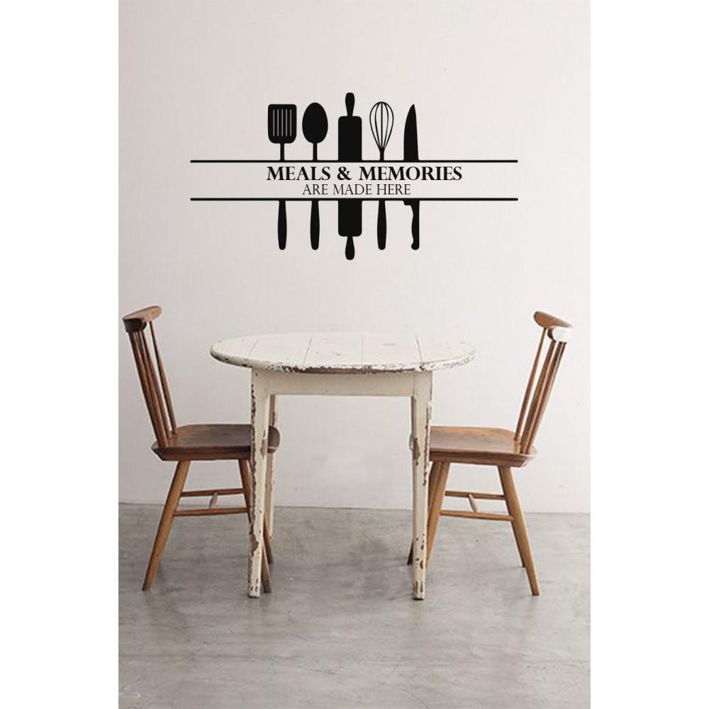 Sticker Citat ''Meals & Memories''