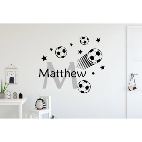 Sticker Mingi de Fotbal+nume personalizat