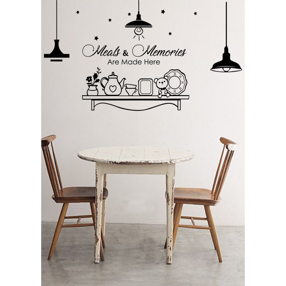 Sticker Citat ''Meals and Memories''