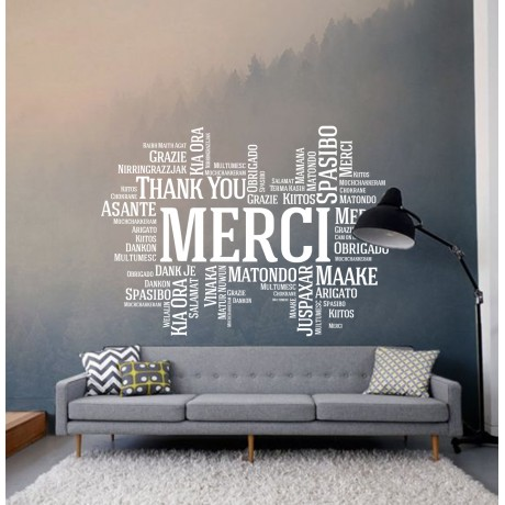 Sticker Citat ''Merci''