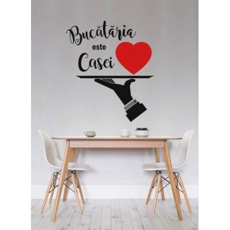 "Sticker Citat ''Bucataria Casei"""