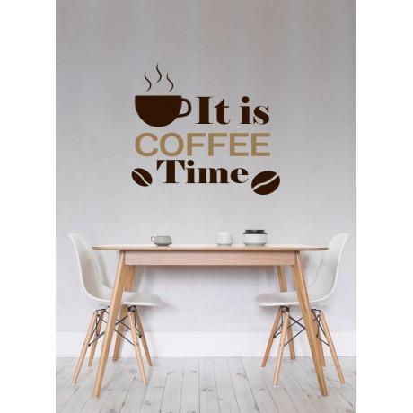 "Sticker ""Time Coffee"""