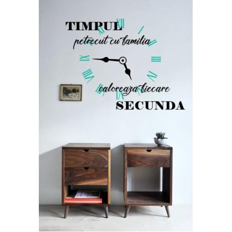 """Sticker citat """"Timpul"""""""