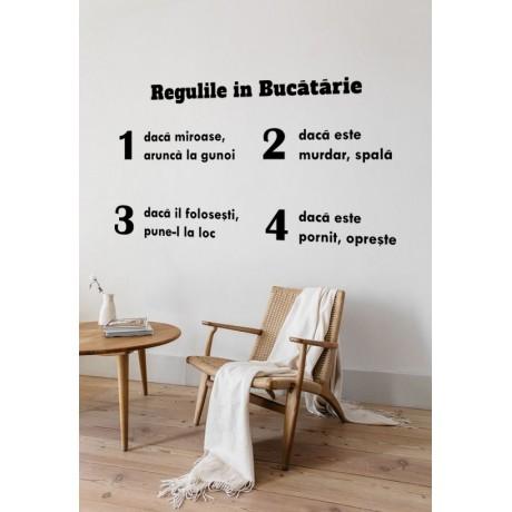 Sticker Regulile in Bucatarie