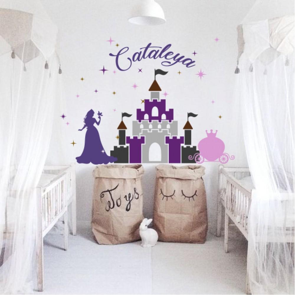 Sticker Castel + nume personalizat