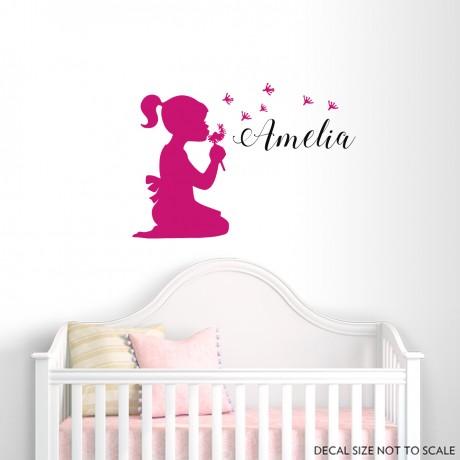 Sticker Fetiță+Nume