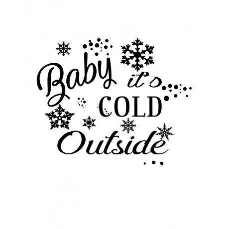 Sticker Baby it's Cold Outside