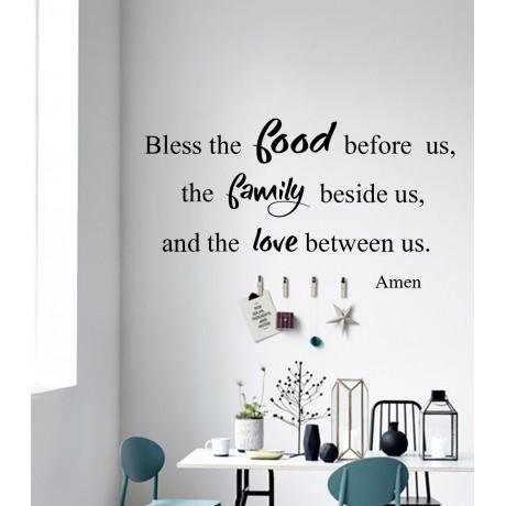 Sticker Citat ''Bless the food''