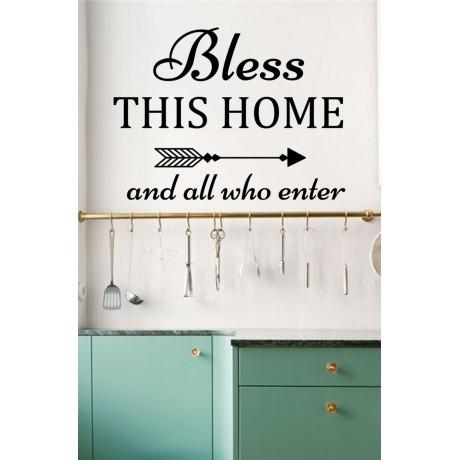 Sticker Citat ''Bless this Home''
