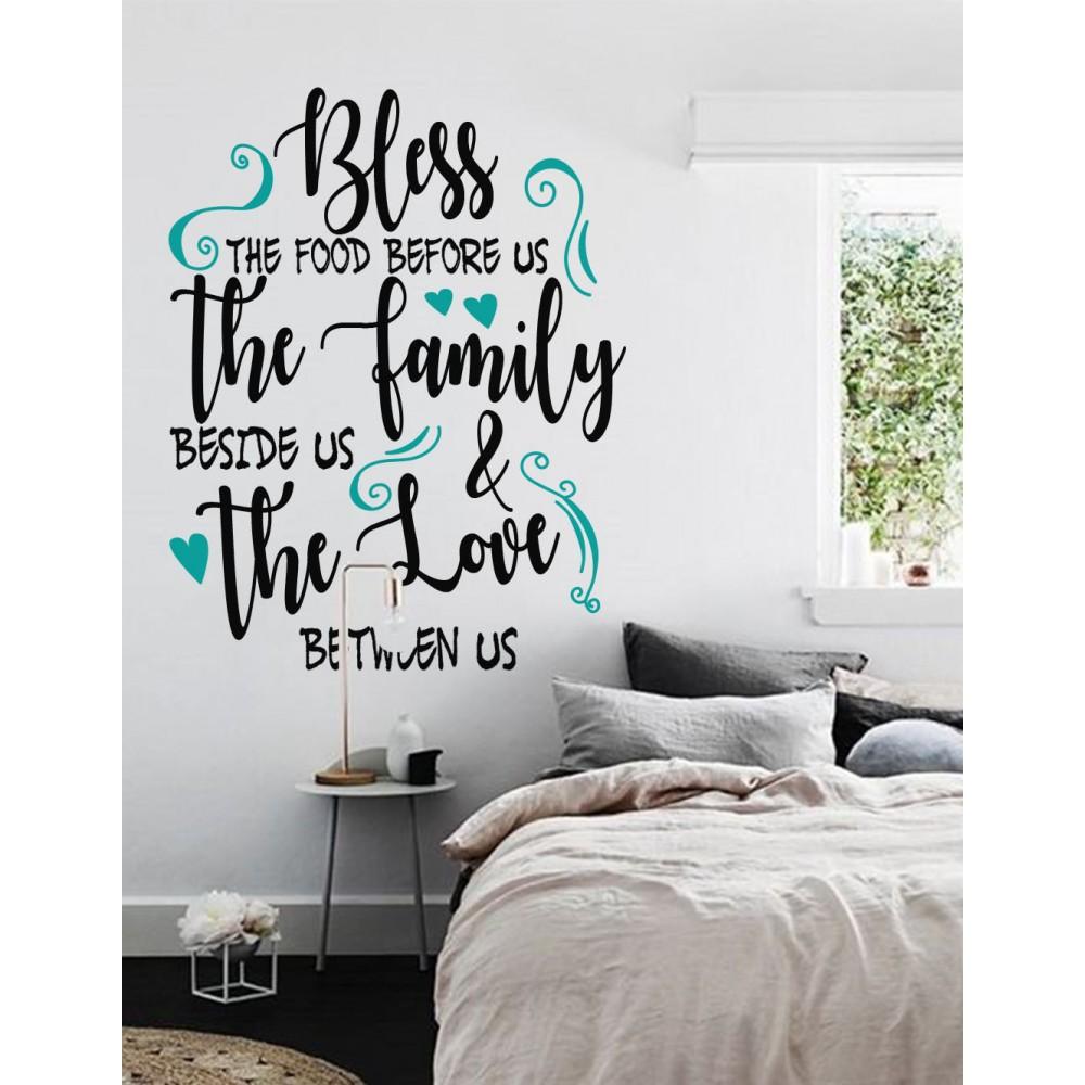 Sticker Citat ''Bless the food''2