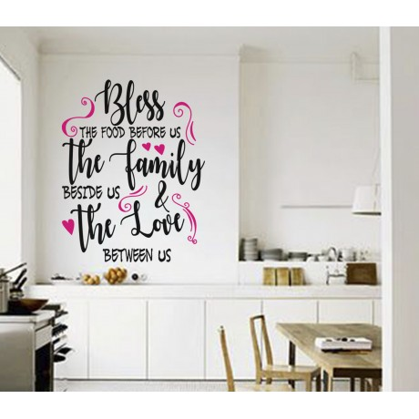 Sticker Citat ''Bless the food''2