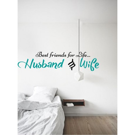 Sticker Citat ''Husband and Wife''