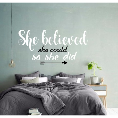 Sticker ''She believed she Could''