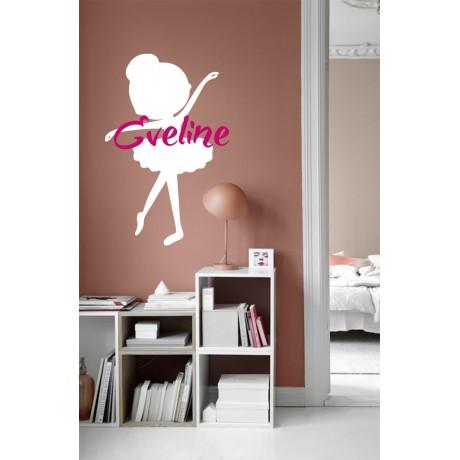 Sticker Balerina+Nume personalizat