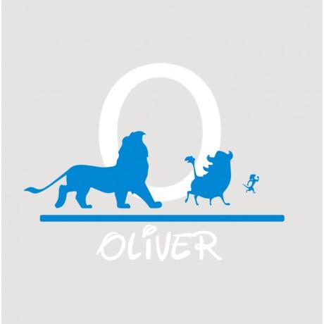 Sticker Disney Lion King + Nume  personalizat