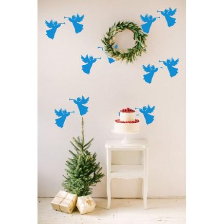 Sticker Îngeri de Crăciun