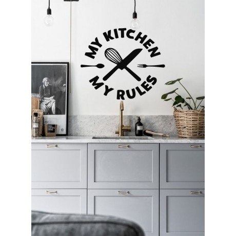 Sticker Citat ''My Kitchen My Rules''