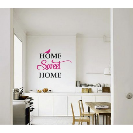 Sticker Citat ''Home sweet Home'' pentru Living