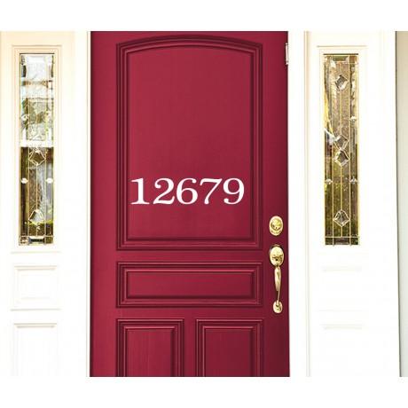 Sticker Numar de casă pentru ușă
