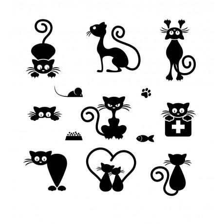 Sticker cu Pisici 3