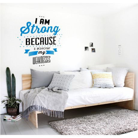 Sticker Citat ''I am Strong''