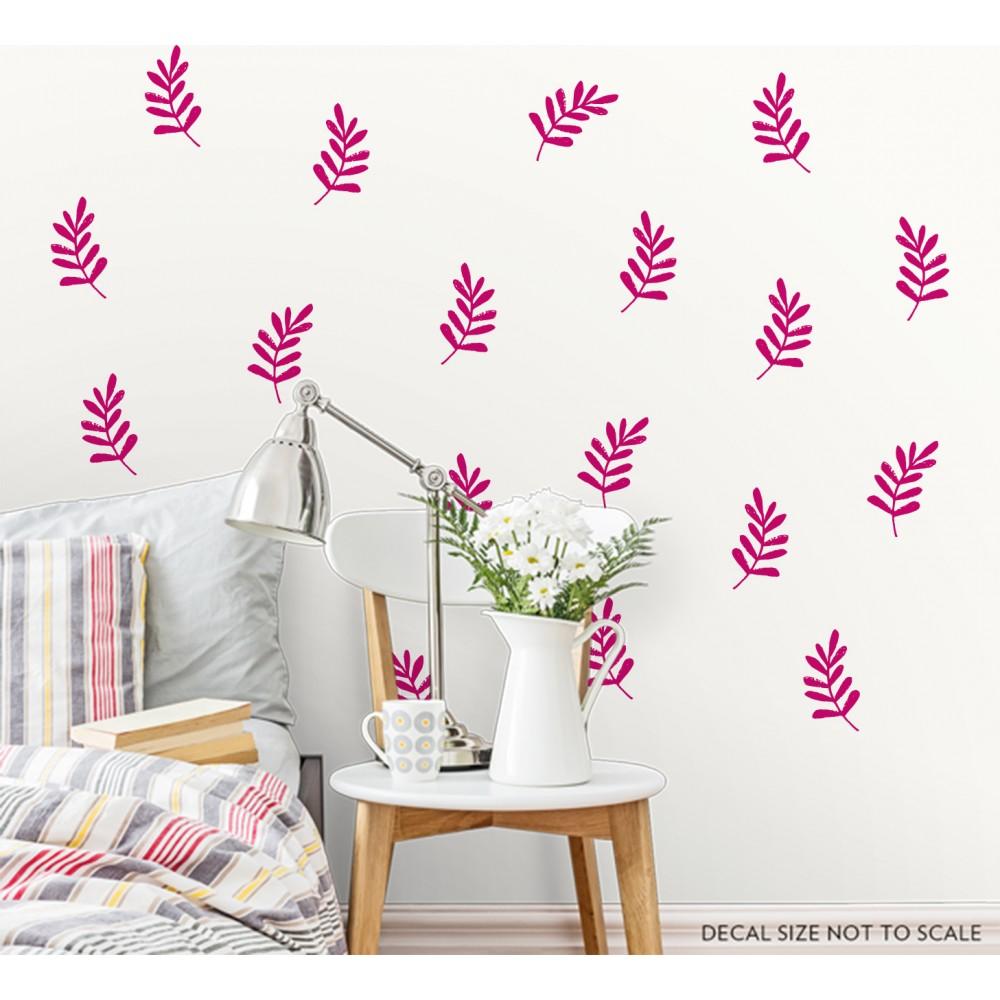 Sticker frunze stilizate