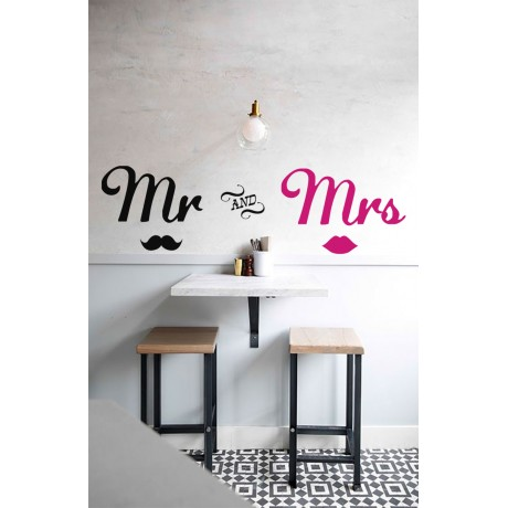 Sticker Mr and Mrs