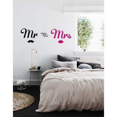 Sticker Mr and Mrs