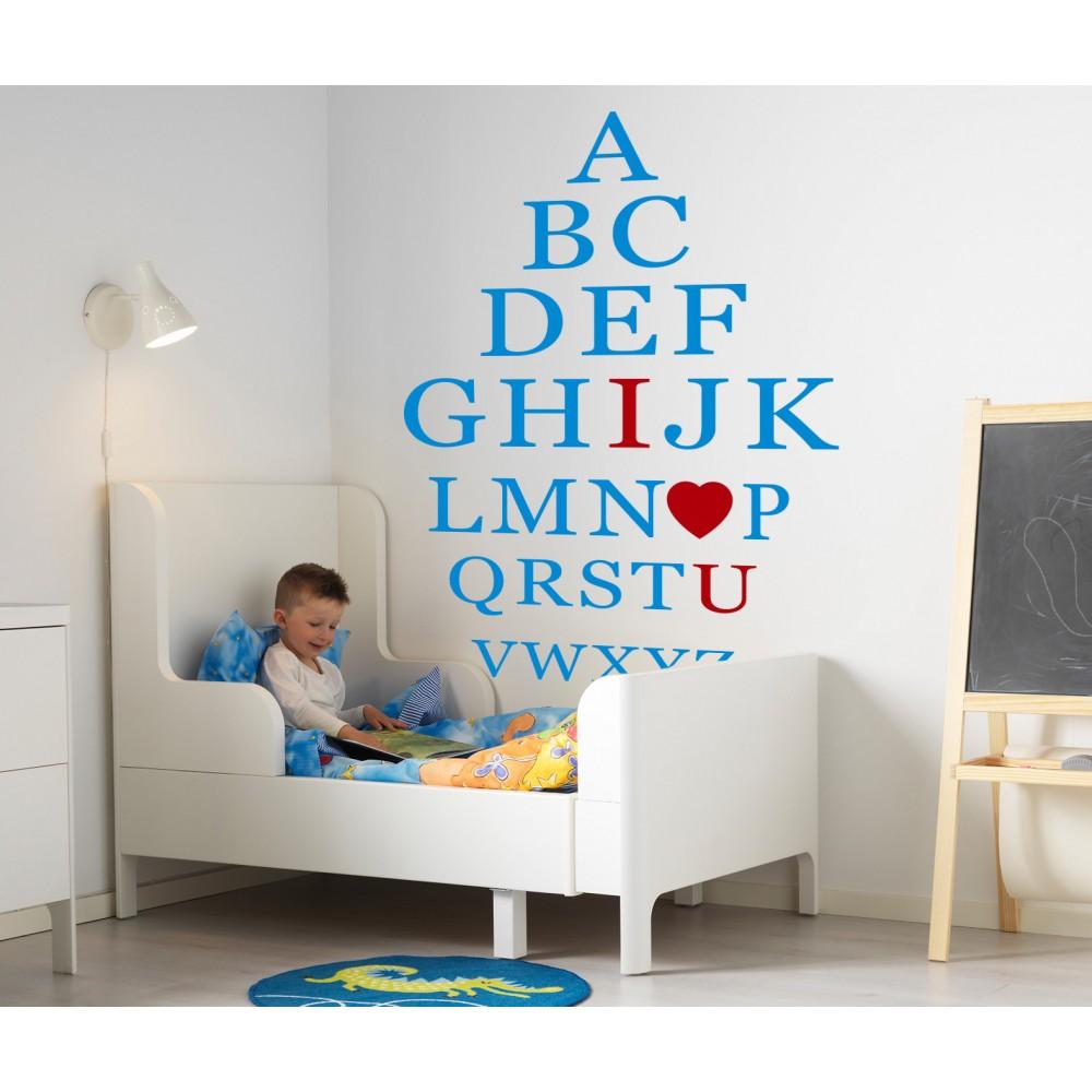 Sticker Alfabetul englez pentru copii